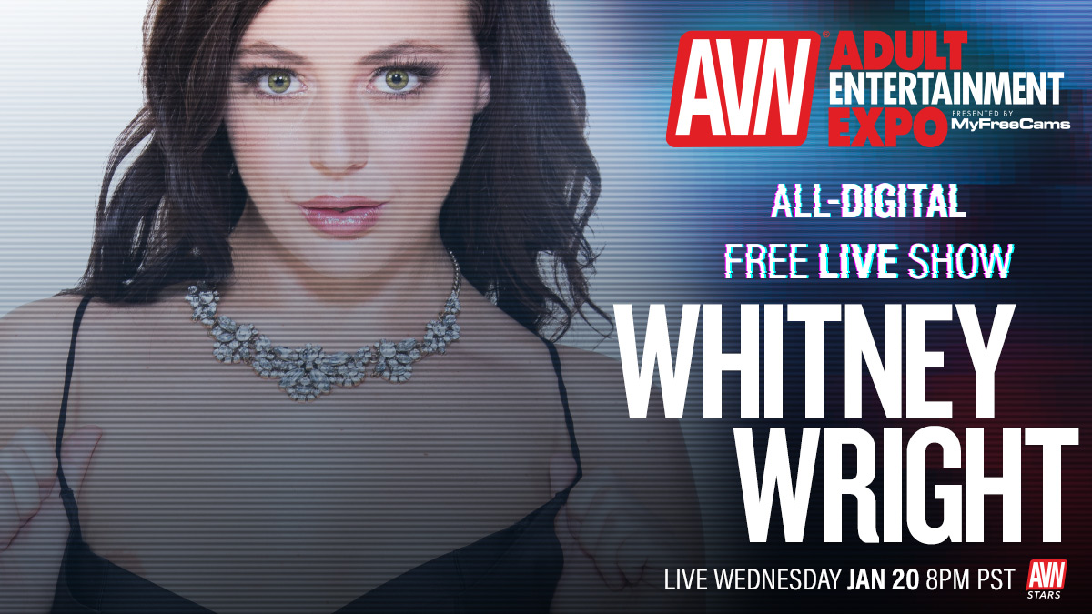 Going live for the all-digital #AVNShow today at 8:00 p.m. @whitneywrightx Tune in here: stars.avn.com/whitneywright
