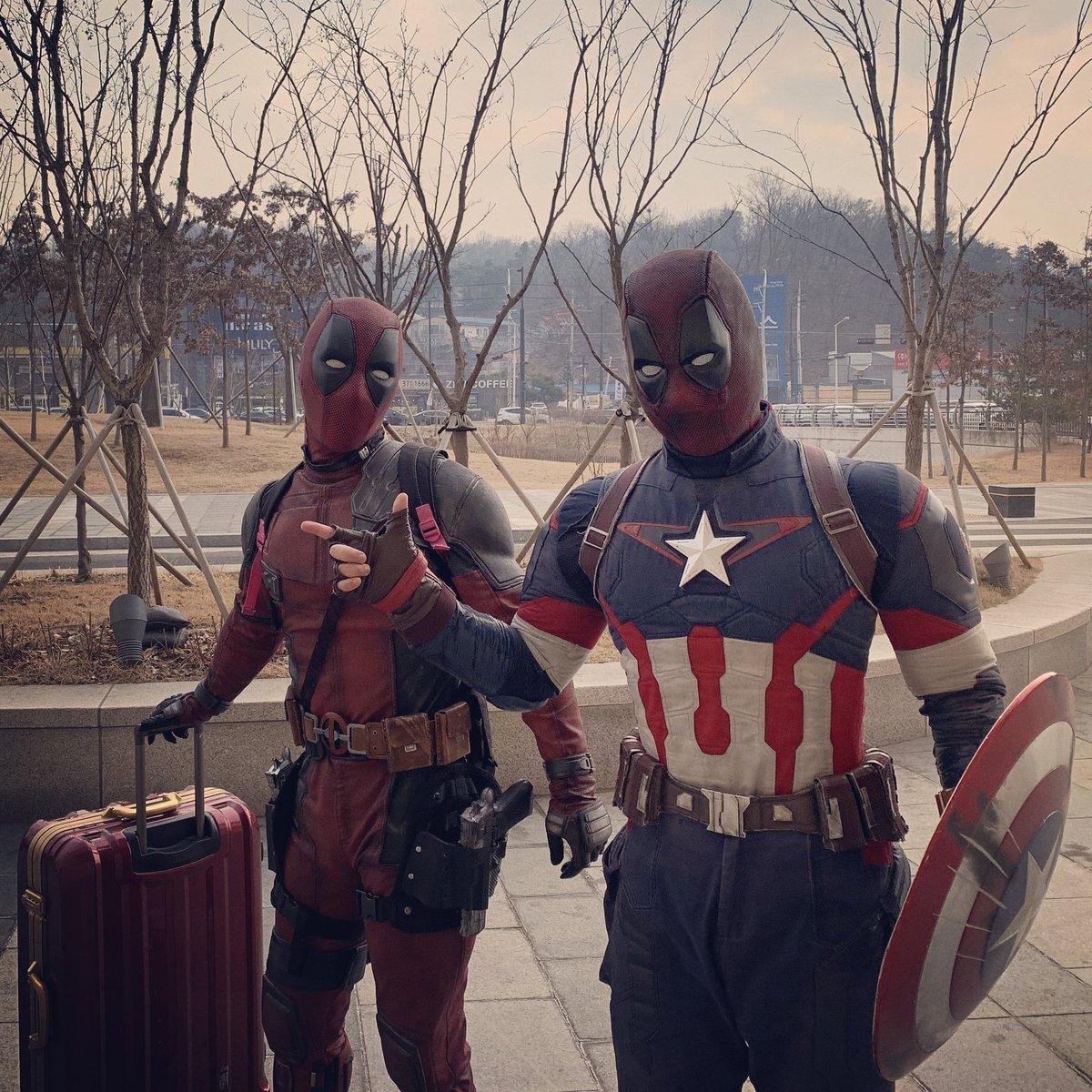 2 years ago, Dreams Come True. Welcome to the Avengers Team. Deadpool will Return.  #Deadpool #Deadpool3 @ChrisEvans @merc_dead_pool @VancityReynolds  #Avengers #Avengers5 #Xforce #Xmen #CaptainAmerica #CaptainDeadpool