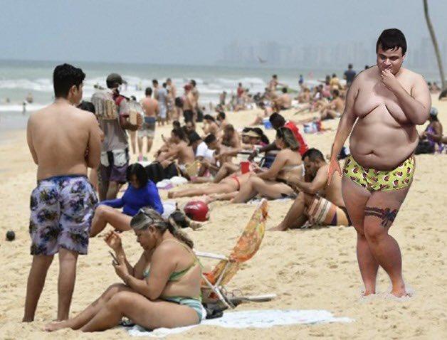 Absurdo! Em plena pandemia o @diguinhocoruja tá na praia azarando os gatos. Denunciem.