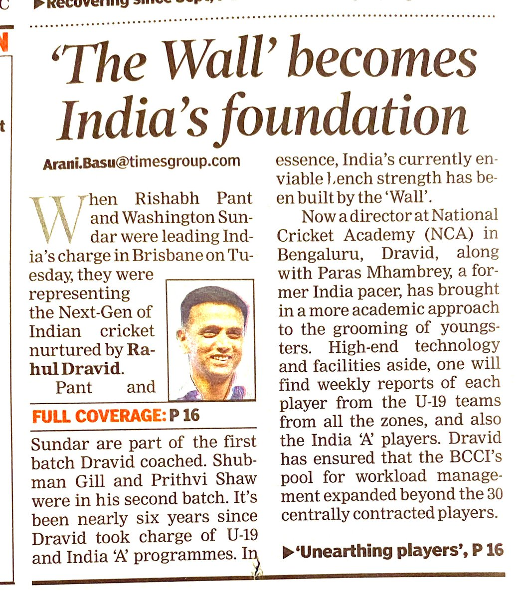 Our real hero!  #Respect #RahulDravid #TheWall #GOAT  Teach them young, teach them right watch them grow!  #TeamIndia #INDvsAUS #IndiaWins