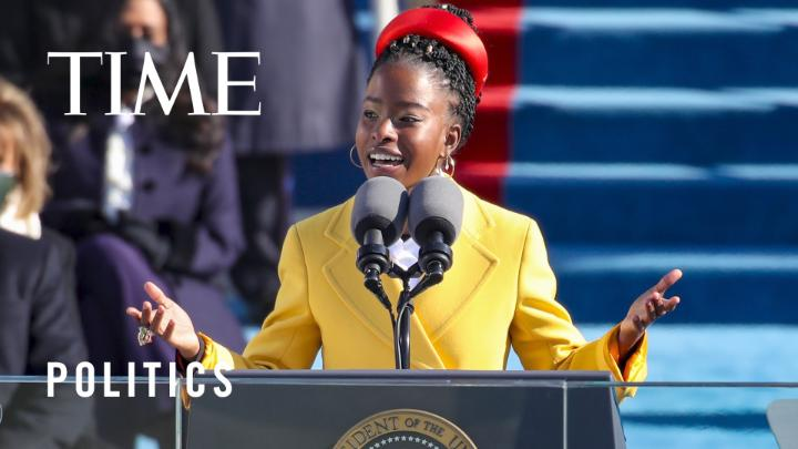"Watch Amanda Gorman, 22, recite her poem ""The Hill We Climb"" at the #inauguration"