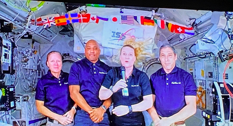 Great to see the @space_station crew joining our national celebration of democracy this evening - and celebrating the international collaboration enabled by the #ISS. @NASA @JAXA @ESA @CSA @roscosmos