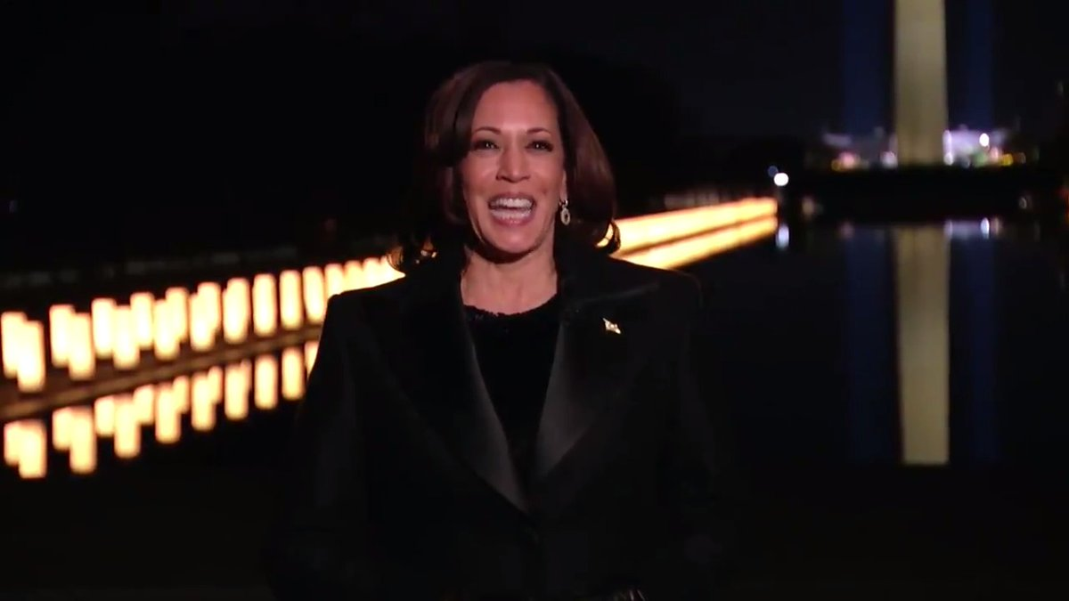 """""""In many ways, this moment embodies our character as a nation. It demonstrates who we are, even in dark times. We not only dream, we do. We not only see what has been, we see what can be."""" — Vice President Harris   #Inauguration2021"""