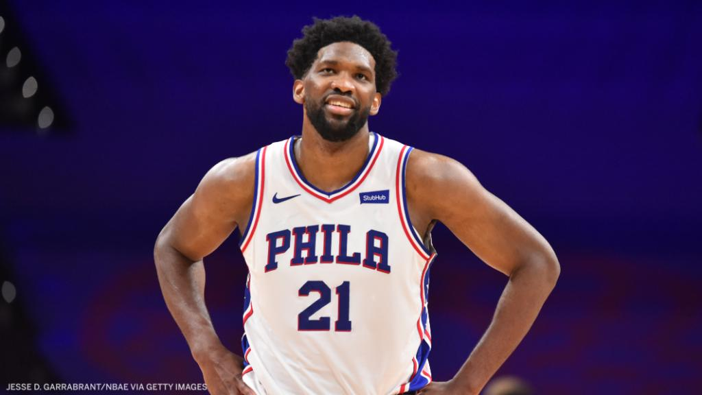 Embiid came up big in the Sixers' win over the Celtics 💪  🔵 42 Pts 🔵 10 Reb 🔵 12-19 FG