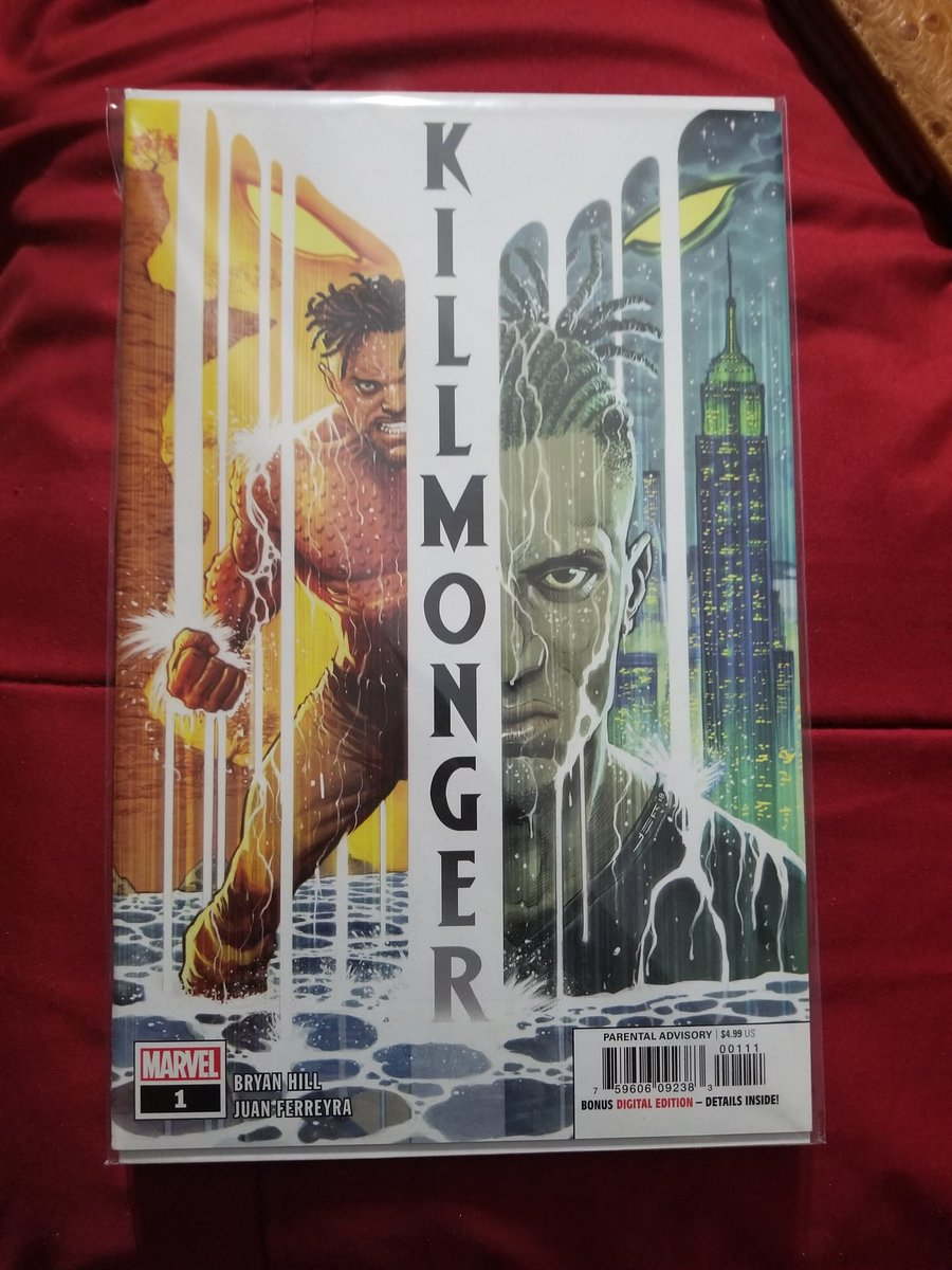 On my Black Panther shit today!! S/o @bryanedwardhill I had to cop 3 before the price go up!! 😬 #killmonger can't wait to read it!