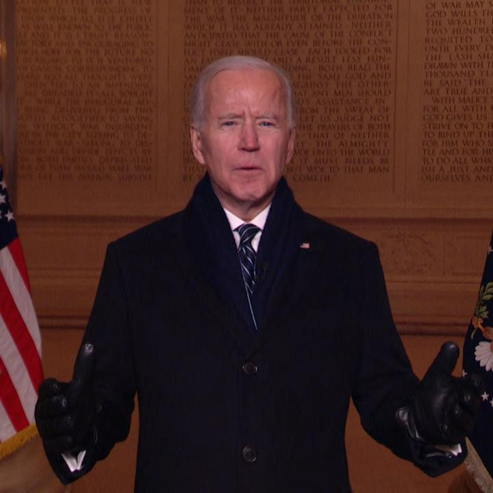 """I will give my all to you."" President Biden addresses the nation from the Lincoln Memorial during ""Celebrating America,"" a broadcast special to honor his #inauguration"