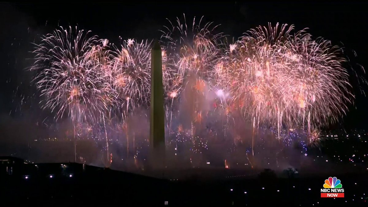 WATCH: Fireworks shower Washington, D.C., at the conclusion of #InaugurationDay. https://t.co/LnvyPwuwHT
