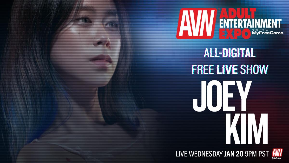 Going live for the all-digital #AVNShow today at 9:00 p.m. @JoeyKimTV Tune in here: stars.avn.com/joeykimtv