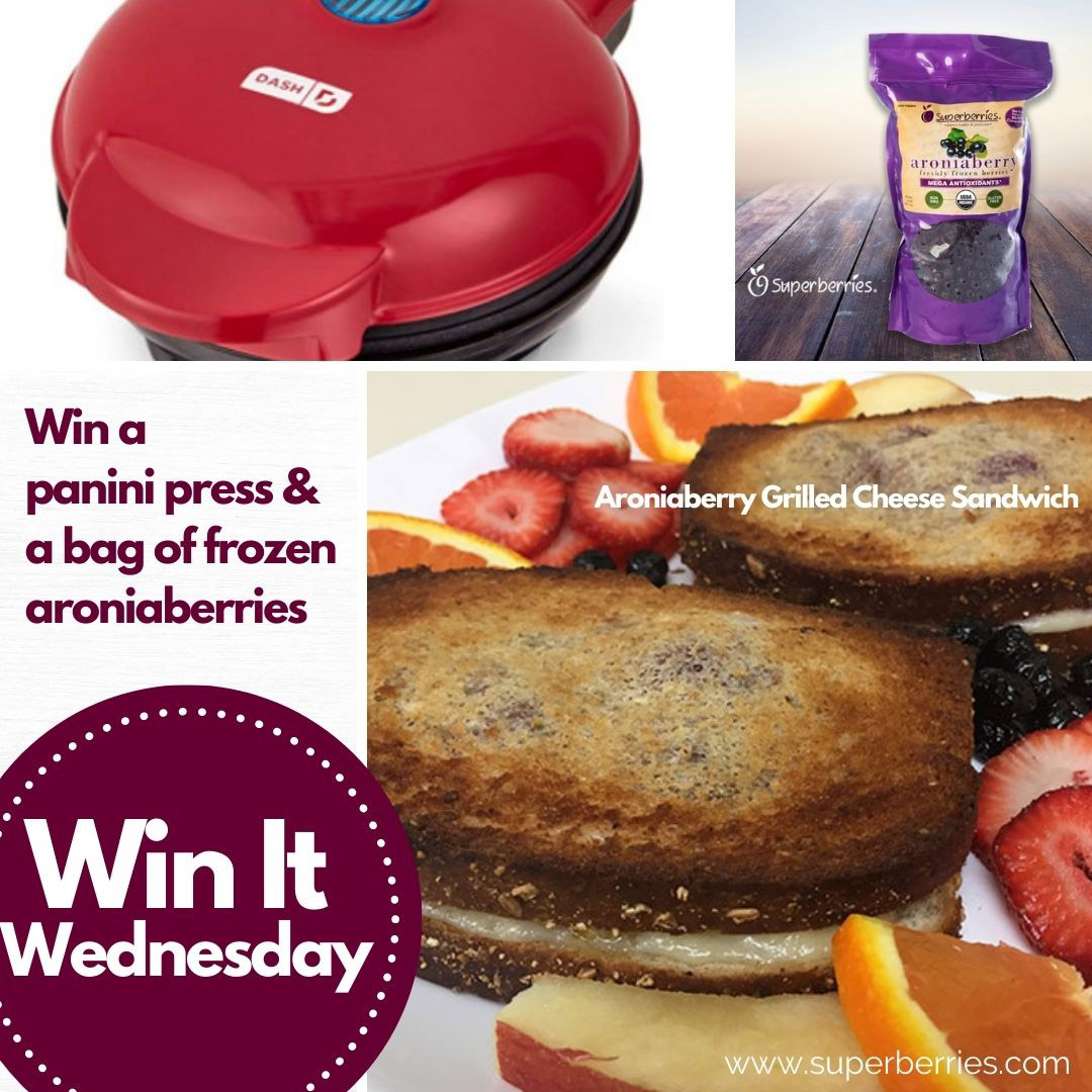 #WinItWednesday. On #CheeseLoversDay, we can't think of a better sandwich to make than our #Aronia Grilled Cheese.  Tell us your innovative recipe idea for our Aroniaberries & be entered to win a Dash Panini Press and Frozen Aroniaberries. Like & retweet for extra entries. https://t.co/Sexppj3Quq