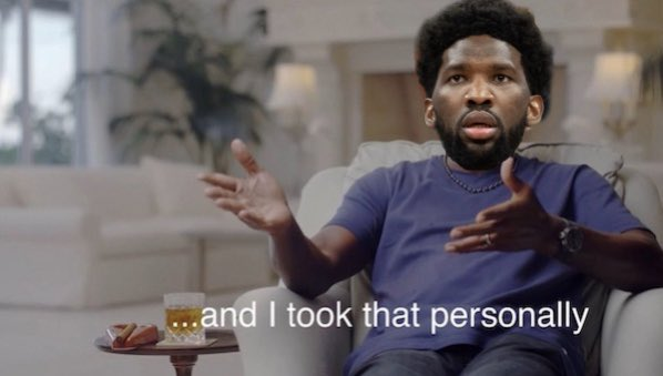 Replying to @SportsArePhilly: Joel Embiid after not being selected to any of the All-NBA teams last season: