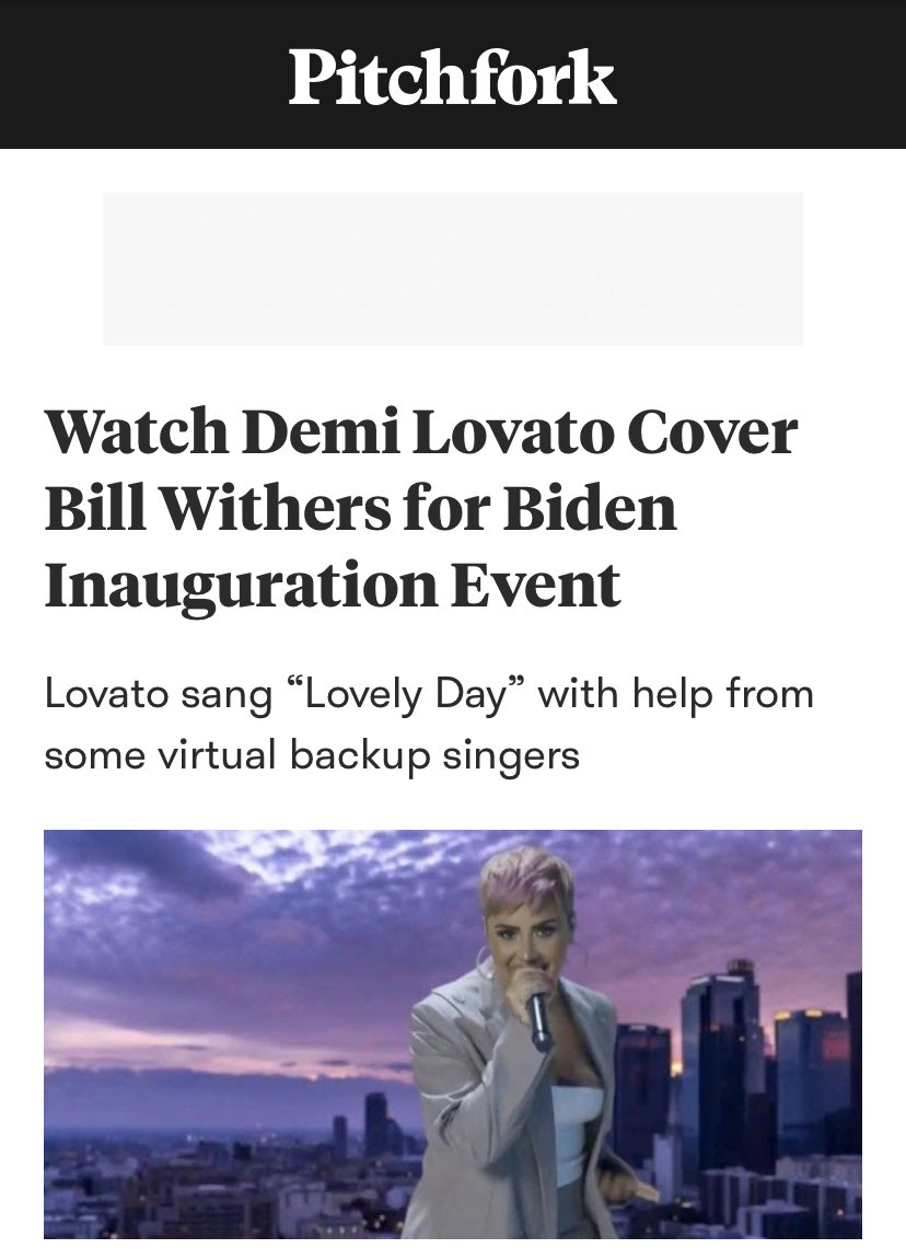 It's been 30 minutes and Demi Lovato is already receiving acclaim for a COVER she did. See when you're one of the greatest vocalists of our generation 🥂 https://t.co/2oA1dNkcZw