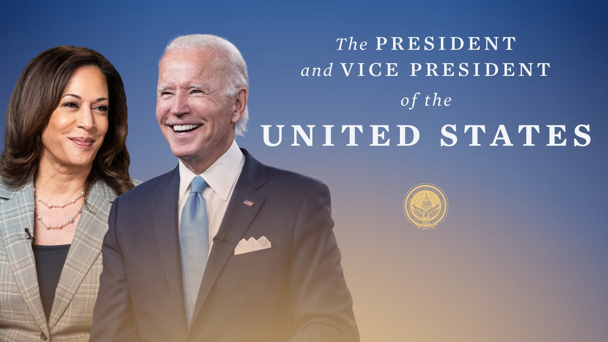As #InaugurationDay comes to a close, we are grateful to have @POTUS and @VP leading our country.  A new chapter for our country has started, and it is one of unity, hope, and inspiration.  We can't wait.