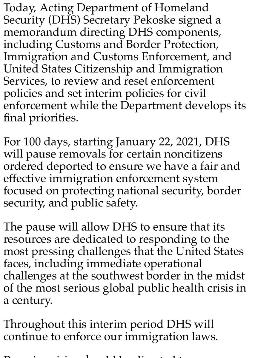 This is huge!  Immigrant families have never known a day when the threat of deportations wasn't hanging around the corner.  This policy is not everything. It's a pause. It leaves some people out. But it's a significant  departure from the last decades of constant deportations. ✊🏽 https://t.co/kfYw9yrLRw