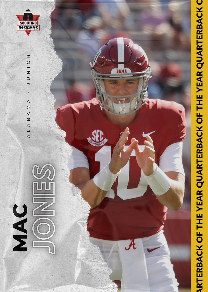 S.I. Running Back of the Year: Mac Jones from the University of Alabama #Alabama #alabamafootball #alabamacrimsontide #RollTide #Bamafootball #NCAA #ncaafootball #sports #collegefootball #football #college #NFL #NFLTwitter #NFLCombine #NFLDraftNews #Nike #CFBPlayoff #CFB