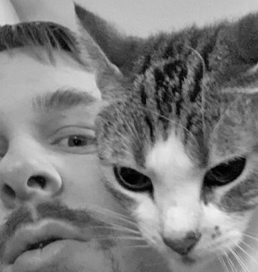 Just a precious moment with my kitty daughter Piper. ^_^ #selfie #catsoftwitter #cutecat #cat #animal #pets #blackandwhitephotography
