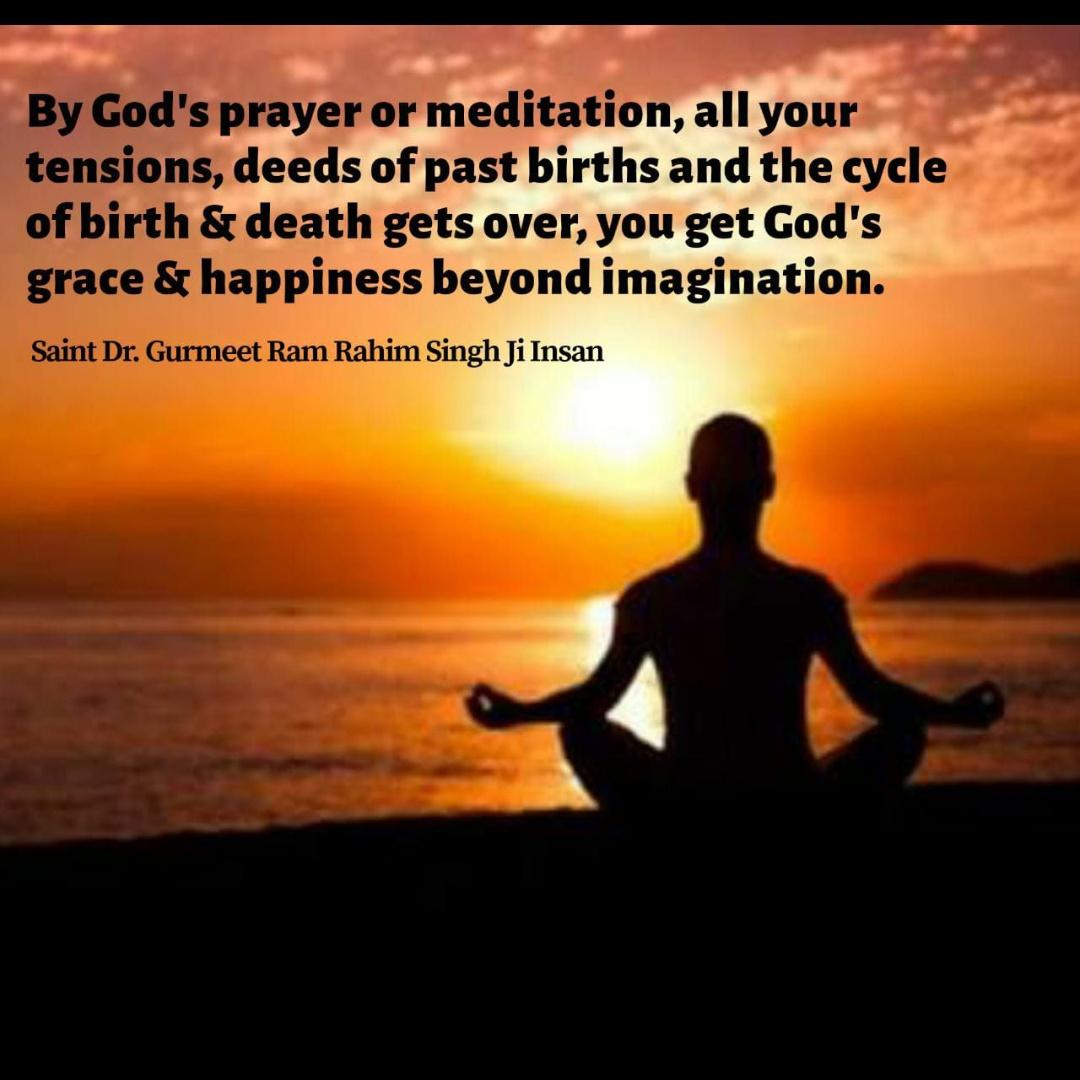 #BabaRamRahim #SaintDrGurmeetRamRahimSinghJi #DeraSachaSauda #Meditation #Mindfulness #PositiveVibes #Instagram #Instagood #Spirituality #Faith We need to do meditation daily and it will be only done when we take it as the important part of our life/ work in your daily routine.