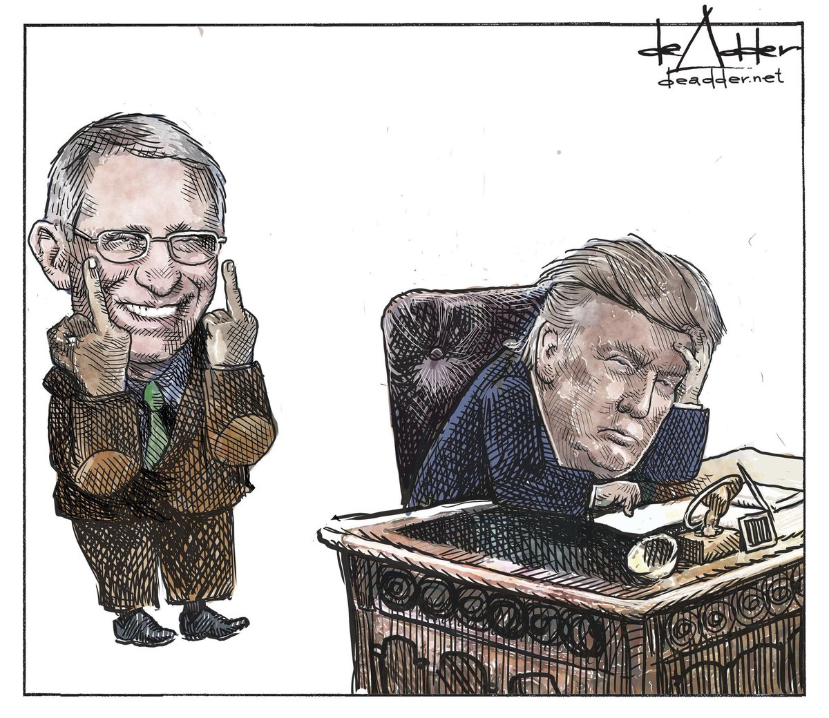 #ThingsImGonnaMissAboutTrump.  @deAdder political cartoons slaying all things Trump.