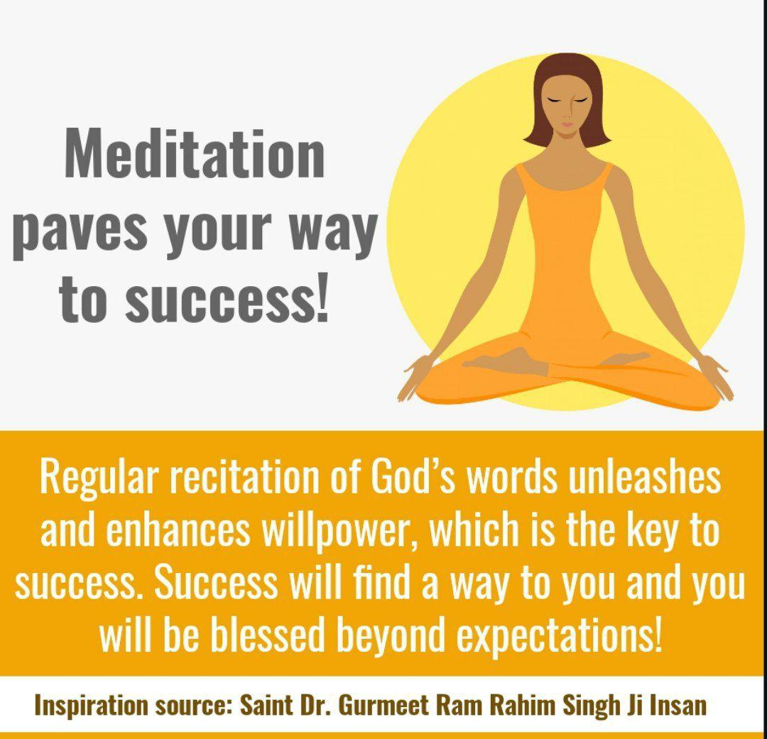 Meditation is the key of all success. #BabaRamRahim #SaintDrGurmeetRamRahimSinghJi #DeraSachaSauda #Meditation #Mindfulness #PositiveVibes #Instagram #Instagood #Spirituality #faith