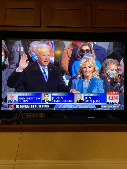 1 pic. This morning for the first time ever, my husband and I watched an Inauguration.  The swearing