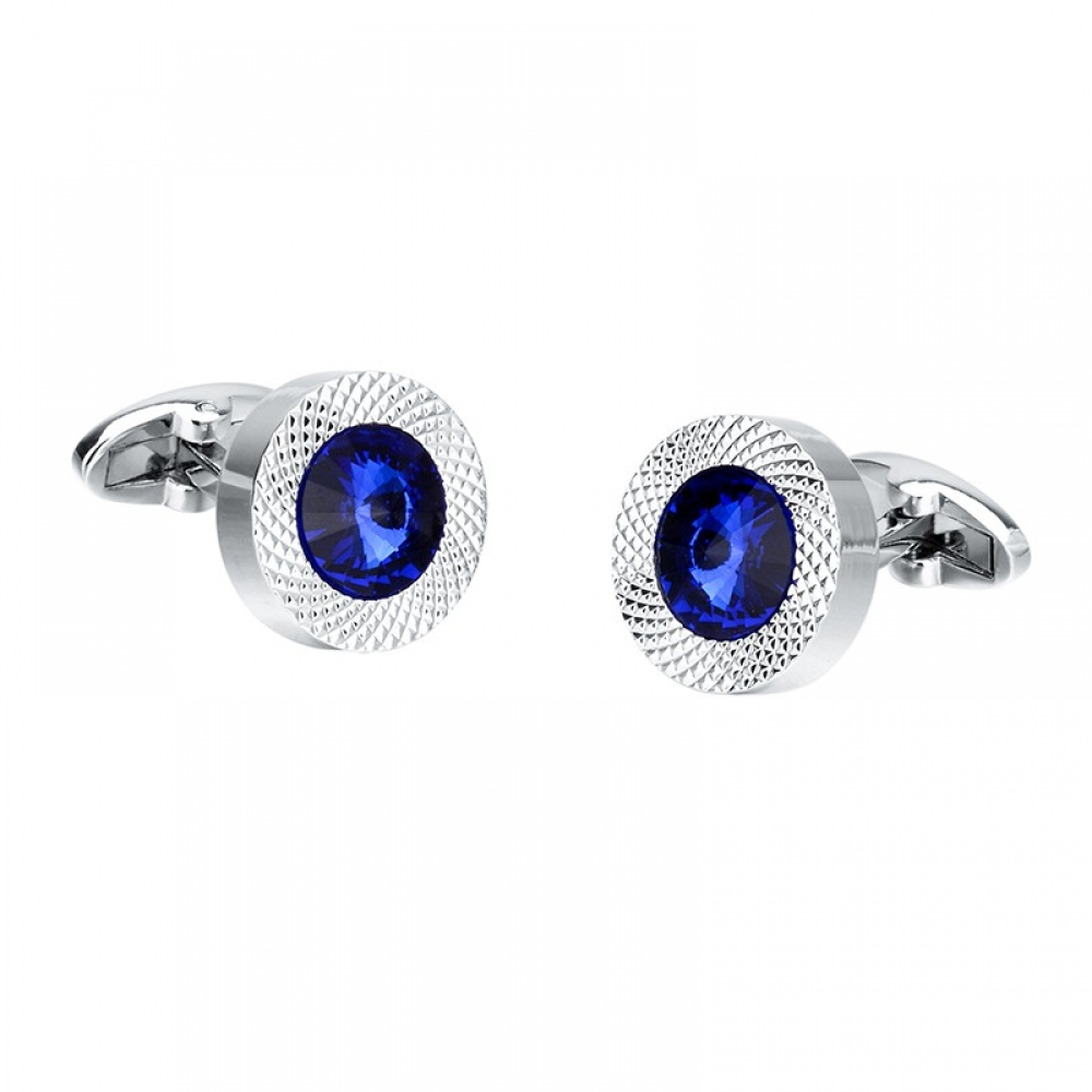 #hair #selfie Men's Blue and Silver Cuff Links