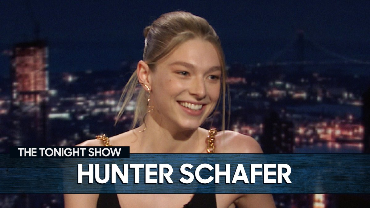 """""""Thank you @ShondaRhimes!""""  Hunter Schafer (@hunters) took Shonda's MasterClass to learn about writing for TV before embarking upon the upcoming episode of #Euphoria 📺 #FallonTonight"""