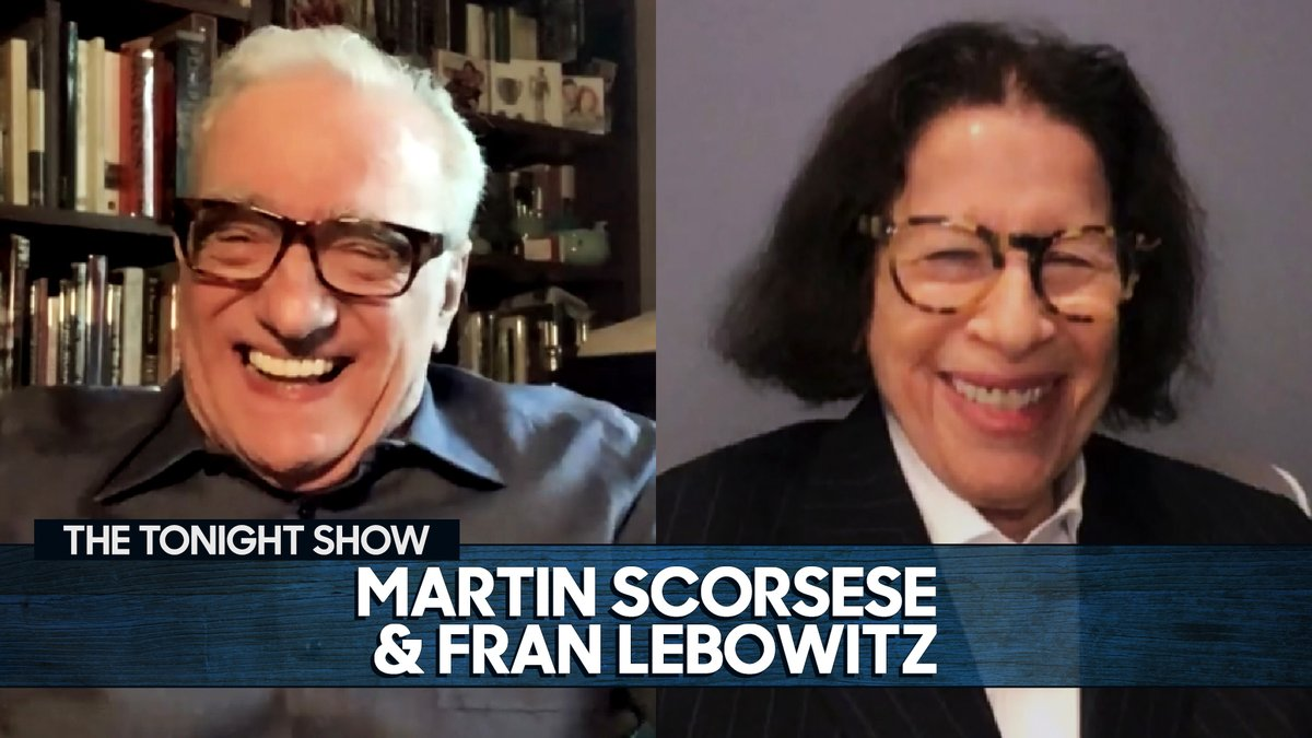 """""""I knocked over the Queensboro Bridge!""""  When Martin Scorsese & Fran Lebowitz visited the @QueensMuseum, Fran had a mini mishap while surveying the model of NYC! 🌉 #FallonTonight"""