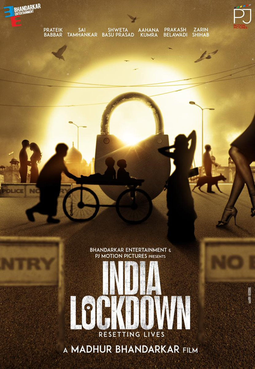 MADHUR BHANDARKAR FINALISES STAR CAST + UNVEILS FIRST POSTER... #PrateikBabbar, #SaiTamhankar, #ShwetaBasuPrasad, #AahanaKumra, #PrakashBelawadi and #ZarinShihab to star in #MadhurBhandarkar's next directorial venture... Titled #IndiaLockdown... Filming begins next week.