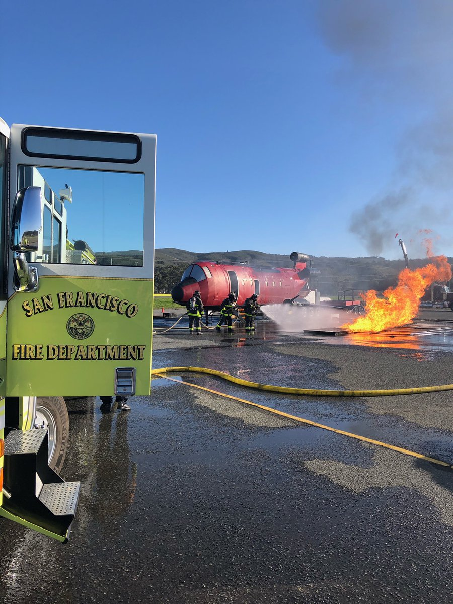 We had a productive day of Aircraft Rescue Firefighting training today. We train so we can be ready for you if you need us. @flySFO #SFFDSFO