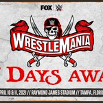 The countdown to @WrestleMania is on!