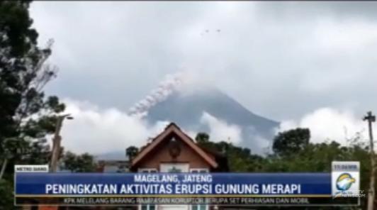 #MetroSiang hingga hari ini aktivitas erupsi gunung Merapi terus mengalami peningkatan. Tercatat dalam sehari mengeluarkan 13 kali luncuran awas panas. streaming: