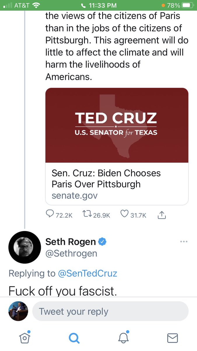 Charming, civil, educated response. ⁦@Sethrogen⁩  If you're a rich, angry Hollywood celebrity, today's Dems are the party for you.  If you're blue-collar, if you're a union member, if you work in energy or manufacturing...not so much.   #JobsMatter