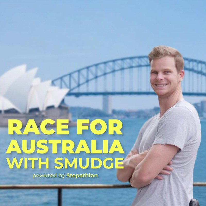 Super excited to announce my partnership with @Stepathlon – 'Race for Australia with Smudge'. A simple, fun 'Virtual Race' designed to inspire all Aussies to come together as a nation to get active & healthy! Heaps of activities, contests and prizes! Get Ready to Race with Me!