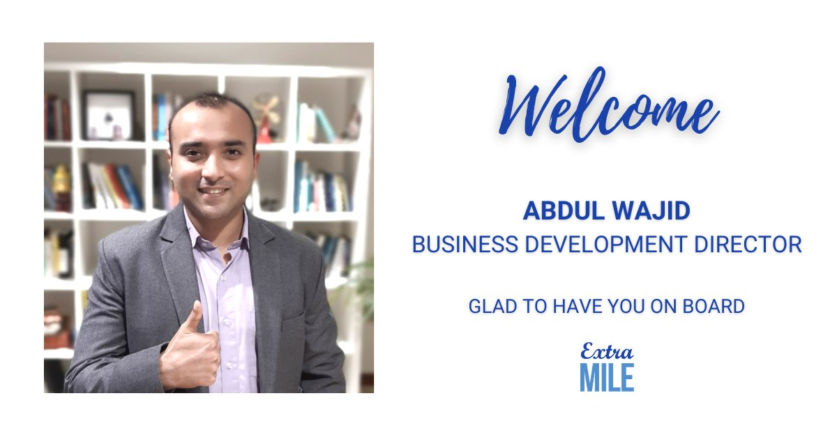 After graduating from law school and having worked at Deloitte, Abdul Wajid has joined us as business development director.   Welcome to the team Wajid and looking forward to seeing you in action with your new #SocialSelling superpowers.   #sales #extramile #linkedin #UAE #Dubai https://t.co/3rFteO3VSV