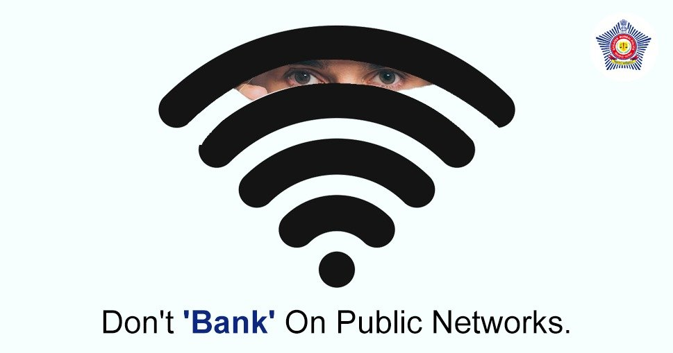 Personal information on public networks is easily accessible.  Do not access personal identifiable information like banking information, home address etc over public WiFi networks.  #BeAware #KnowTheRisks #CyberSafety