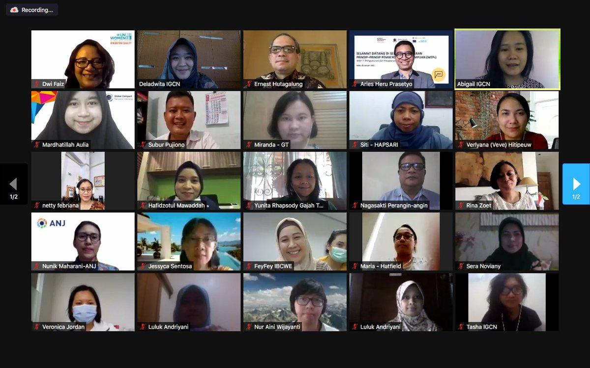 Rangkaian Seri Pembelajaran #WEPs UN Women & @indonesiagcn resmi ditutup. Terima kasih pd peserta & pembicara yg berpartisipasi dlm 7 sesi workshop selama 3 bln terakhir. Dukung kesetaraan gender di perusahaan Anda hari ini: . #WeEmpowerAsia @EU_Commission