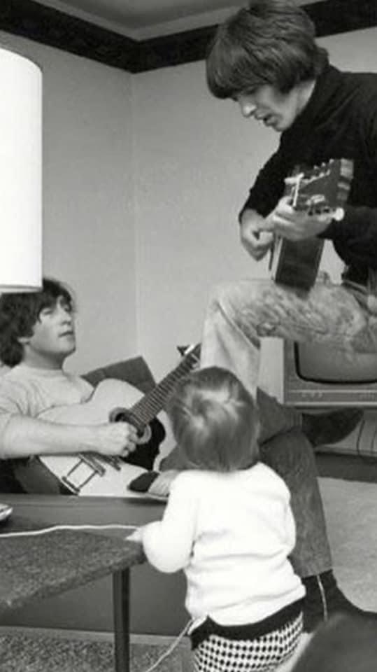 John, George and Julian.  #beatles #thebeatles #band #music #john #johnlennon #george #georgeharrison #julian #julianlennon #musician #musicians #family #talent #guitar #guitars #guitarist #repost #nylonguitar #instagram #instagood #instadaily #twitter