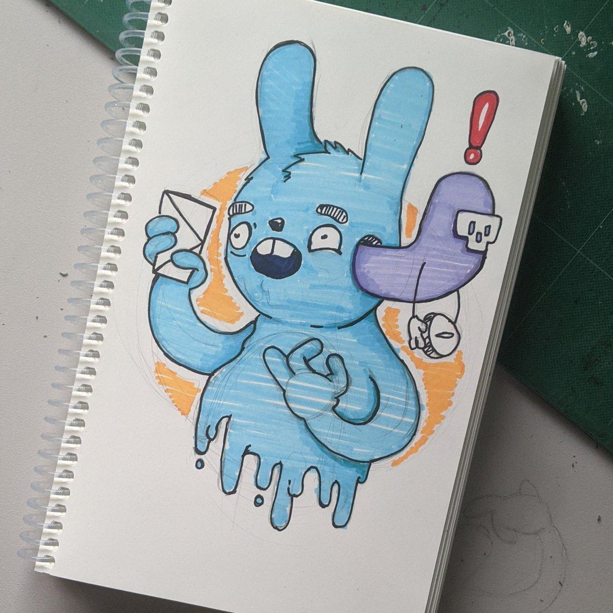 Daily Doodle Day 311 #artwork #sketchbook #drawings #artist #creepyart #skateboard  #art_dailydose #computer #pendrawing #gamedev #creativeart #illustrator #logodesigner #pencilsketch #inkdrawing #darkart #dailydoodle #spraypaint #bunny #lowbrowart #skull #noeffort