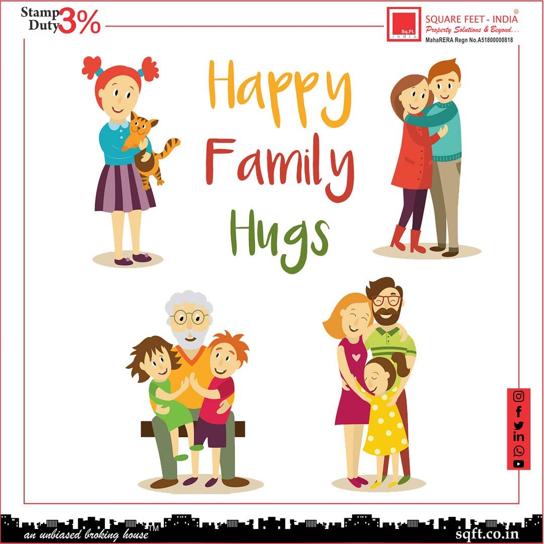 Any time is the perfect time to hug your loved one! Happy Hug Day. . . . . #squarefeet #Indian #properties #mumbai #maharashtra #gujarat #goa #stampdutybenefit #stampduty #dreamhome #visitus #sqft #realestate #happyhugday #family #memories #perfecttiming #frozenmoments