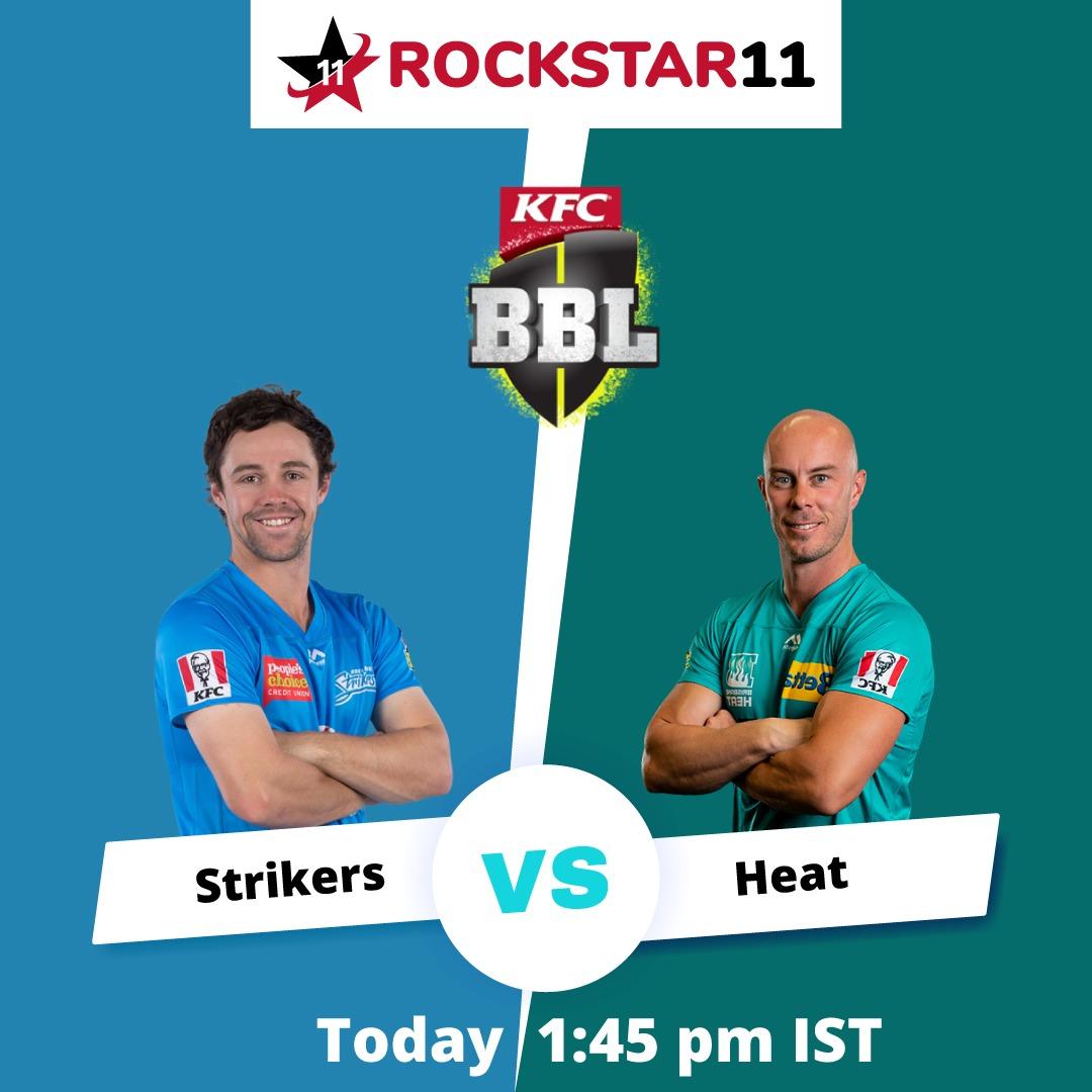 Strikers vs Heat Download Now 🇮🇳 :  #rockstar11 #strikers #Heat #AskTheExperts #brisbanetest #ContestAlert #BCCI #contest #MatchGame #match2021 #odi