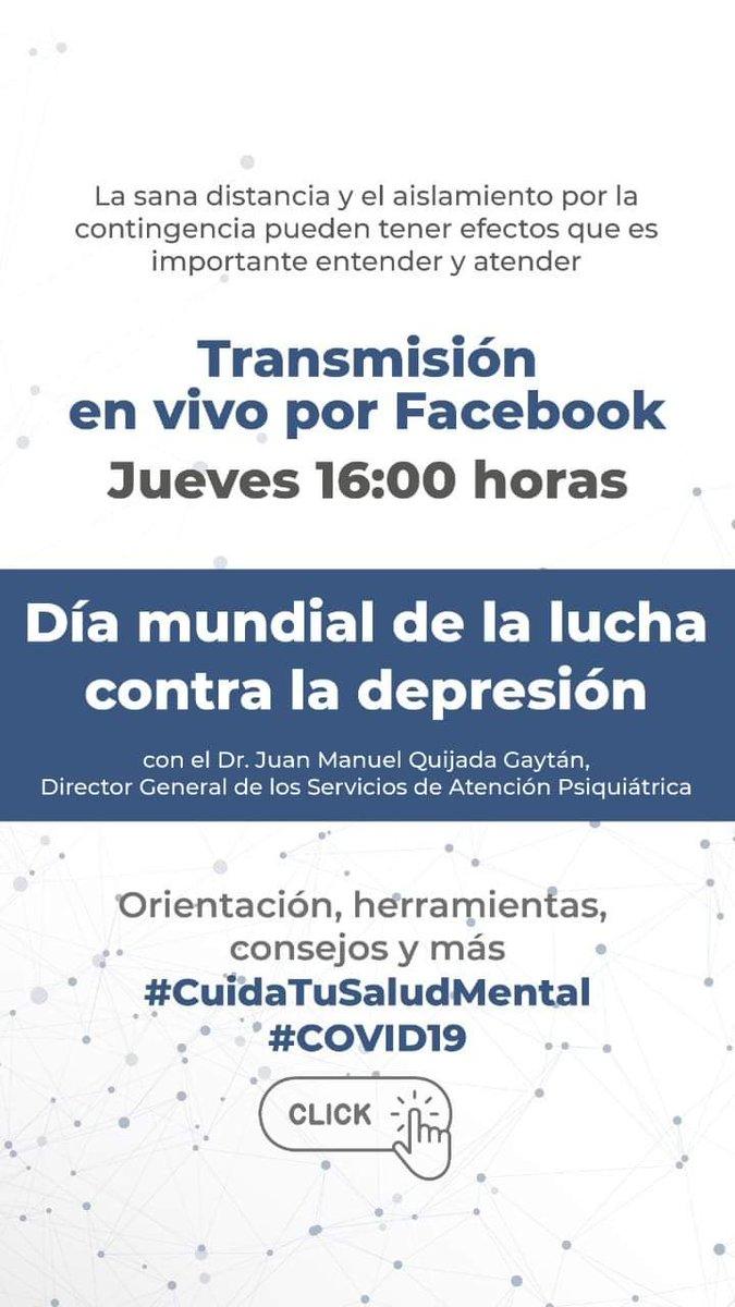 La #Depresión es un problema de #SaludMental que impacta a personas de todas las edades.  No dejes de ver❗ FB Live