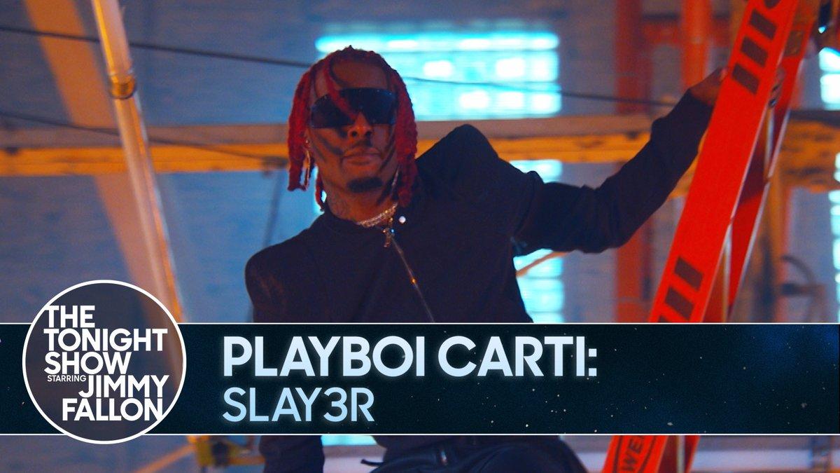 " #FallonTonight Tunes   @playboicarti performs his track ""Slay3r""  Watch the full performance ▶️"