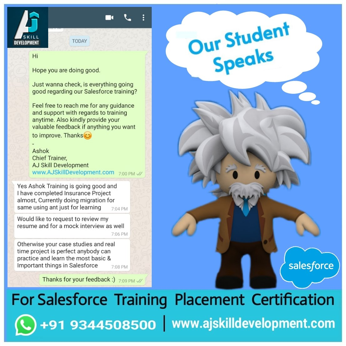 We help you to reinvent yourself in Salesforce 😊 For #Salesforce #Training #Certification #SuperBadge #Placement WhatsApp +919344508500  Join Our Telegram groups Salesforce  Learners  Salesforce Job Updates