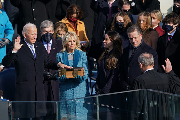 """.@JoeBiden wants to make America """"the leader for good in the world."""" It's going to be a tall order as divisive policies have shaken the nation's foundations. #CapitolRiot epitomized America's fragility at a time of extreme polarization. #CGTNFirstVoice #Inauguration2021"""