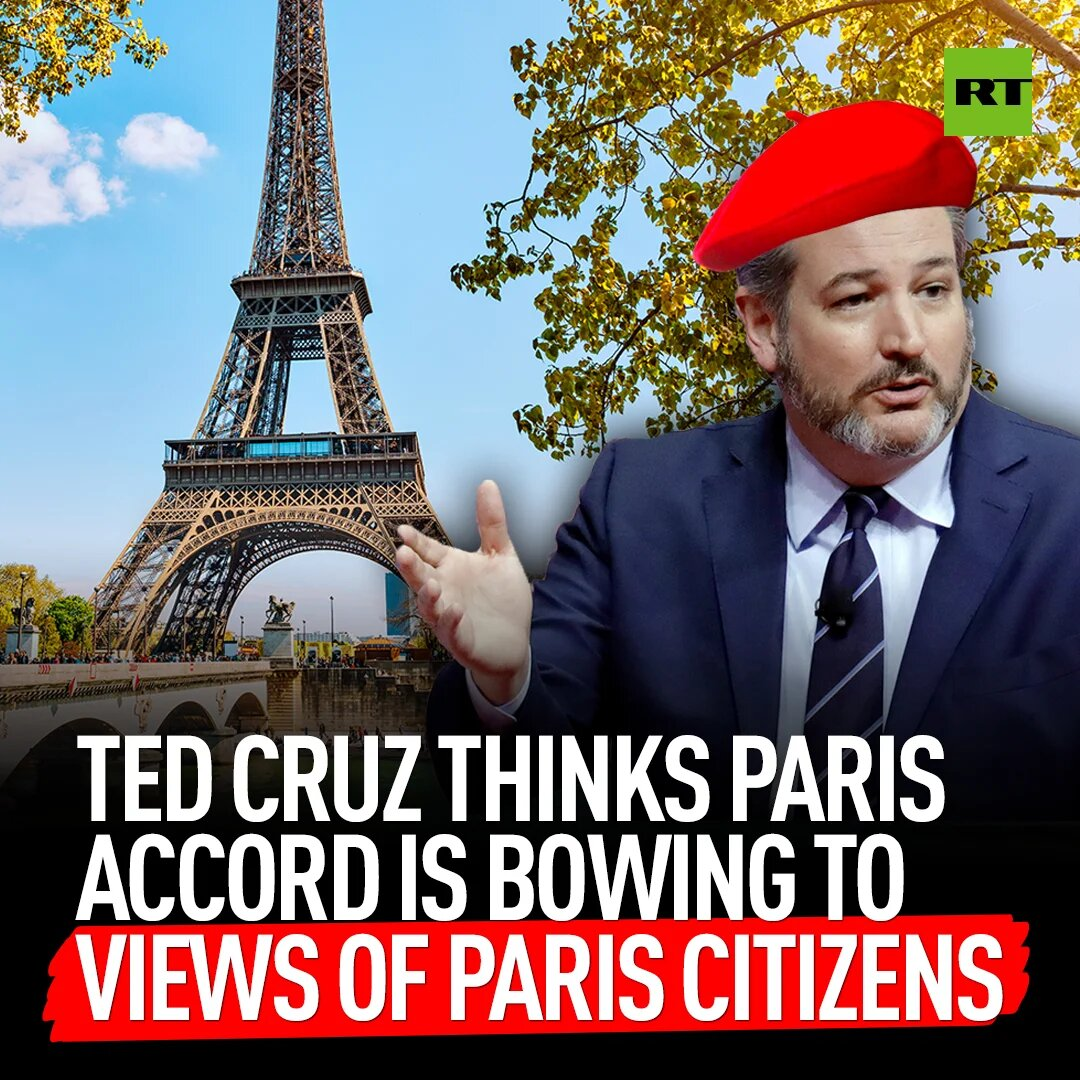 It looks like Ted Cruz skipped the How International Agreements Work class at Senator school:  'By rejoining the Paris Climate Agreement, President Biden indicates he's more interested in the views of the citizens of Paris than in the jobs of the citizens of Pittsburgh.'