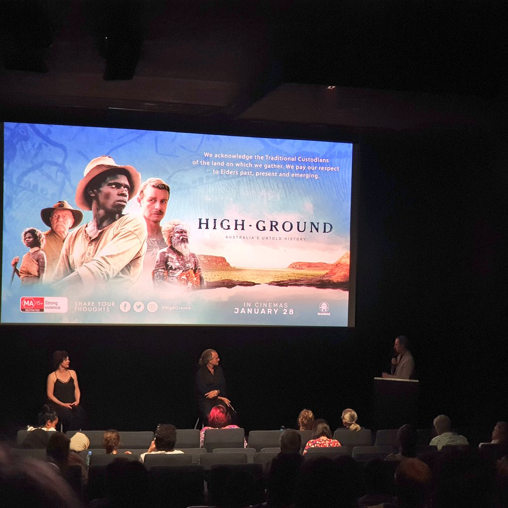 What a stunning film Higher Ground is @cinemanova @MadmanFilms and how exciting to hear from the those who created it tonight...  And opening answer mentioned recognition in the constitution! ❤🖤💛 @ulurustatement @tommayor11