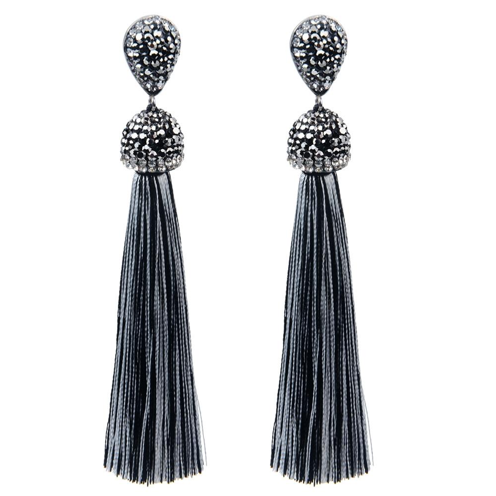 #likeforlike #followforfollow #instadaily #f4f #tagsforlikes #like Long Crystal Tassel Earrings