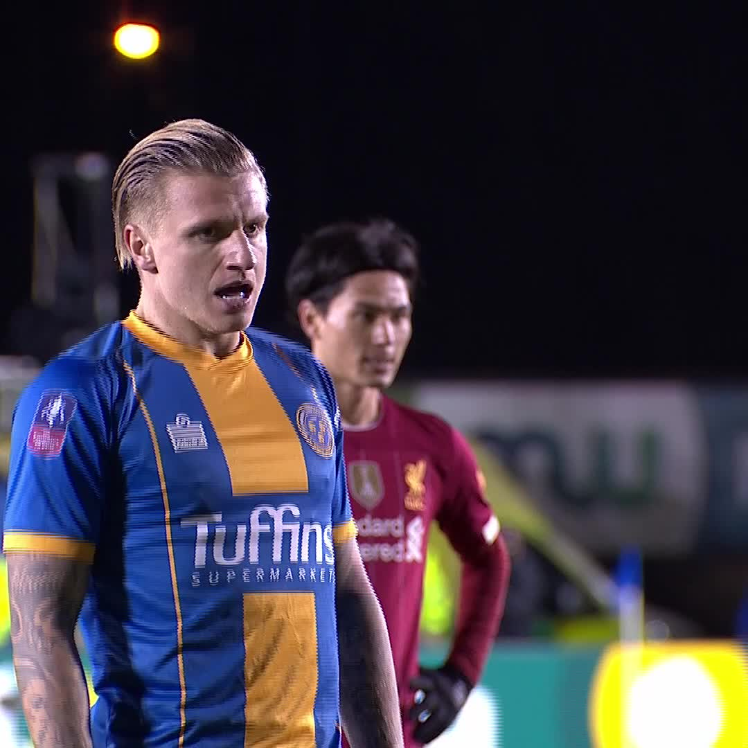 In last year's fourth round, super-sub Jason Cummings stole the show. 💥  #EmiratesFACup @shrewsweb