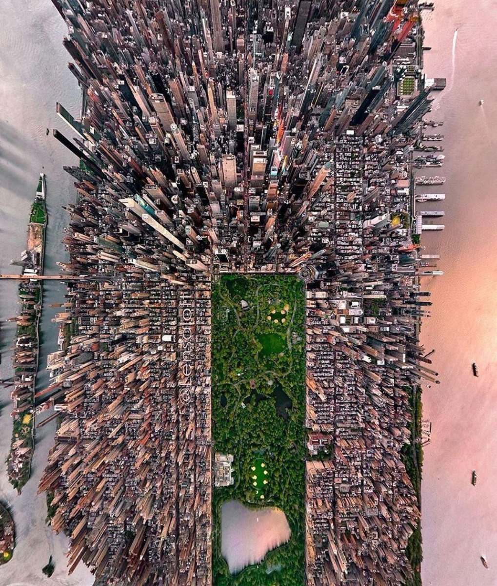 Manhattan, NY viewed from above  #NYC  Source: