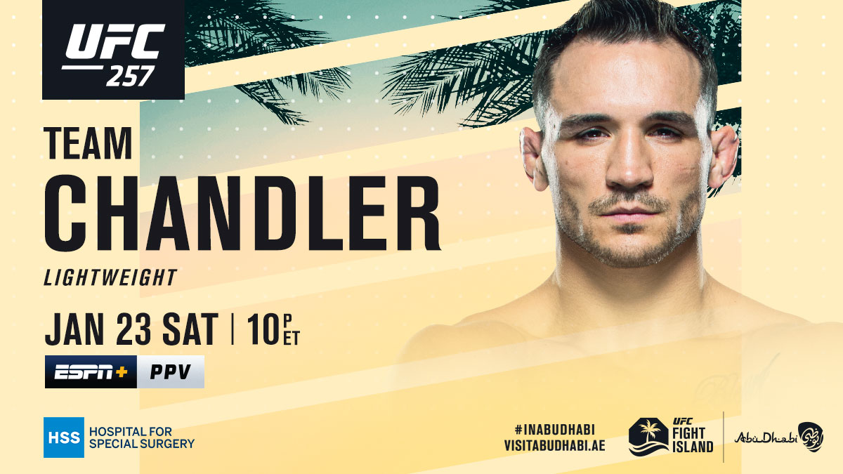 No bigger stage to make a debut!  RT if you're taking @MikeChandlerMMA on Saturday 🍿  [ Get the PPV: https://t.co/ZSsZOY5oV0   B2YB @HSpecialSurgery ] https://t.co/ksiAKSBIaK