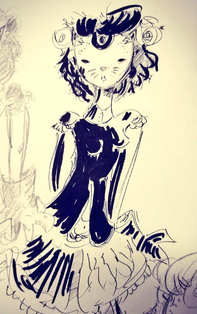Can't stop drawing her. #doodle #drawing #sketch #sketchbook #design